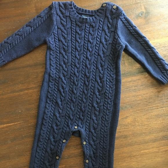 Gap One Pieces Baby Cableknit Sweater Onesie 1218 Months Poshmark